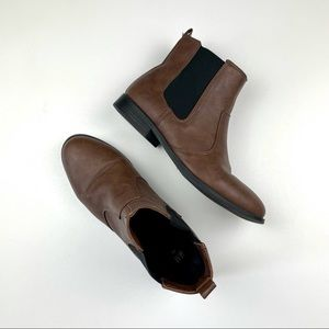 H&M Chelsea Boots Unisex Faux Leather Ankle Brown